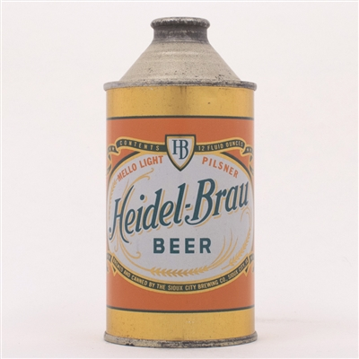 Heidel-Brau Beer Cone Top Can 168-22