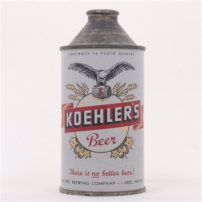 Koehler Beer Cone Top Can Eagle 171-26