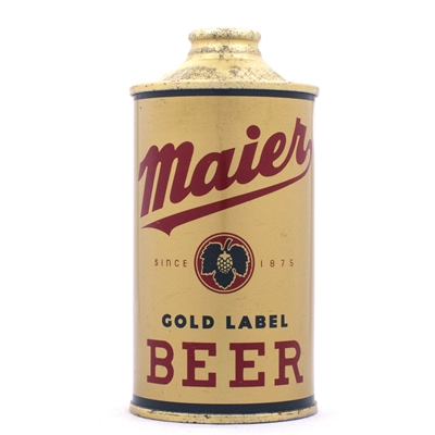 Maier Gold Label Beer Cone Top 173-7