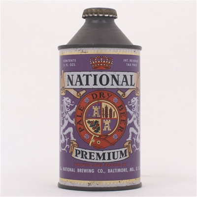 National Premium Beer Cone Can 174-31