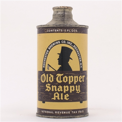 Old Topper Snappy Ale Cone 178-6 WHITE