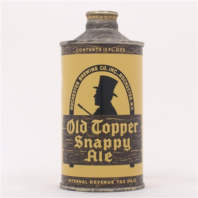 Old Topper Snappy Ale Cone 178-7 YELLOW