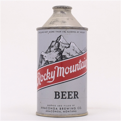 Rocky Mountain Beer Cone Top Can 182-7