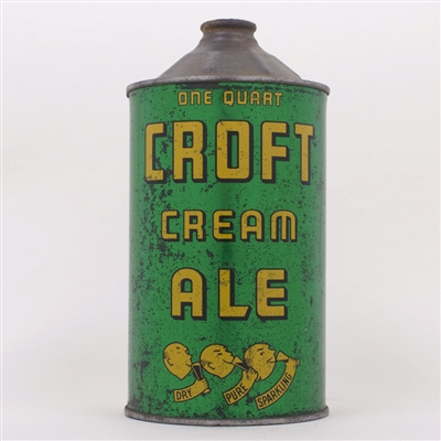 Croft Cream Ale Quart Cone Top 206-4