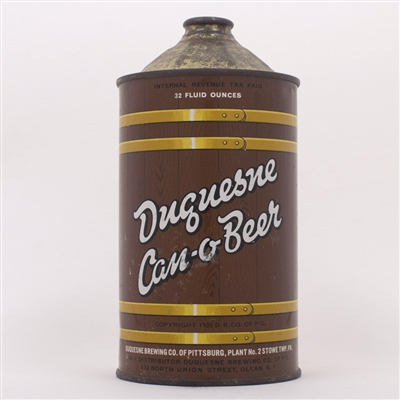 Duquesne Can-O-Beer Quart Cone 207-1