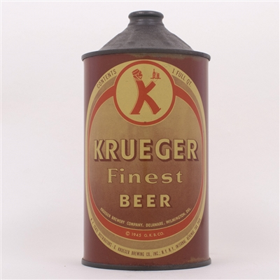 Krueger Finest Beer Quart Cone 214-1