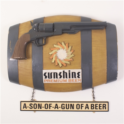 Sunshine Beer Chalkware-Plaster Back Bar Sign