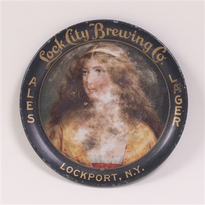 Lock City Pre-Prohibition Woman Portrait Tip Tray