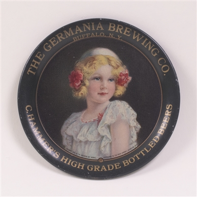 Germania Brewing Co. Pre-Prohibition Girl with Flowers Tip Tray