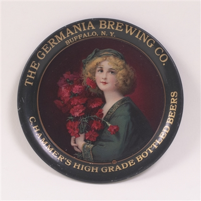 Germania Brewing Co. Pre-Prohibition Woman with Bouquet Tip Tray