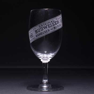 Budweiser Pre-Prohibition Etched Stem Glass