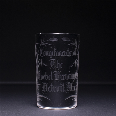 Goebel Brewing Detroit Pre-Prohibition Bock Cut Glass