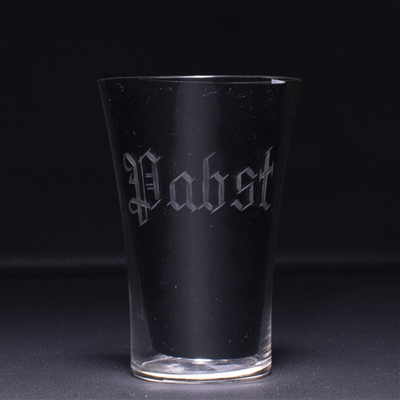 Pabst Pre-Prohibition Etched Drinking Glass