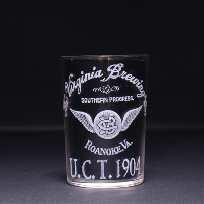 Virginia Brewing UCT 1904 Pre-Prohibition Etched Glass