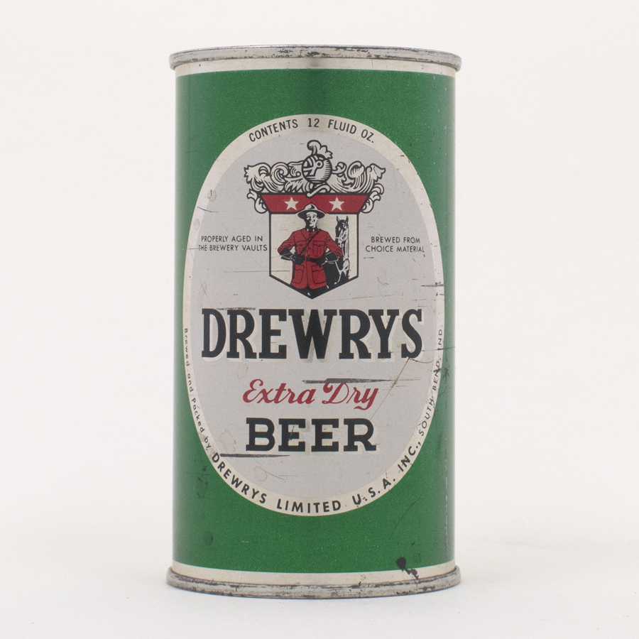 Drewrys Extra Dry Beer Green Sports Can 56-6