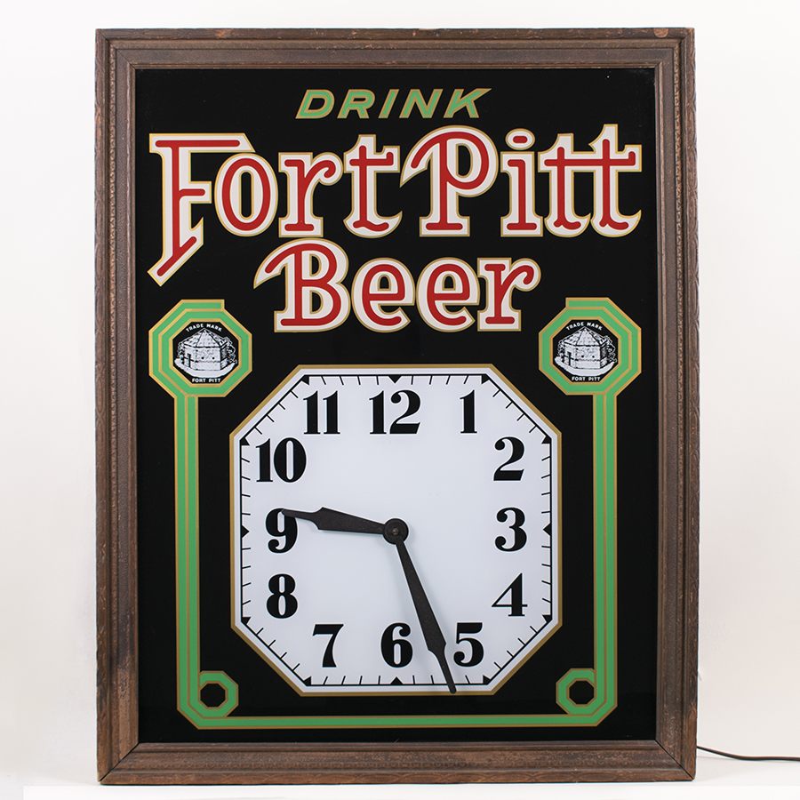 Fort Pitt Beer RPG Lighted Sign Clock