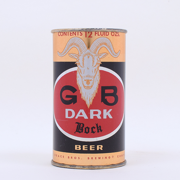 GB Dark Bock Beer Flat Top 68-10