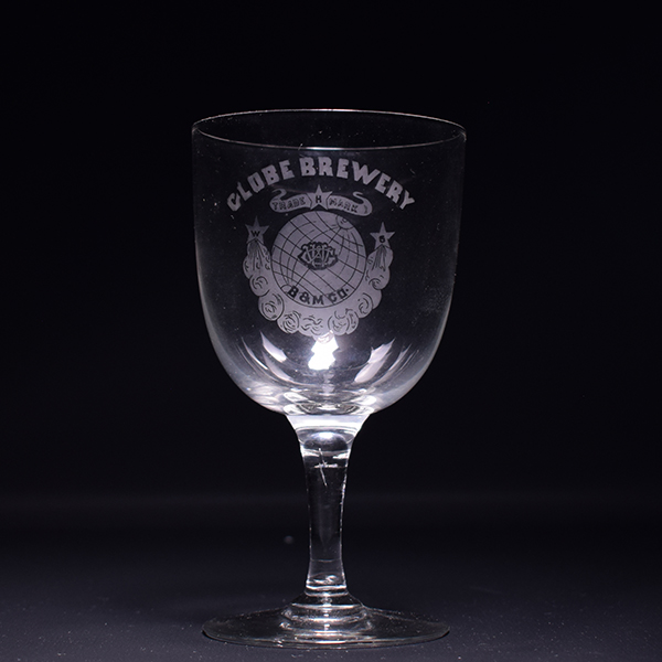 Globe Brewery Pre-Pro Etched Stem Glass