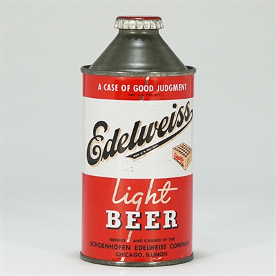 Edelweiss Light Beer Cone Top Can 160-31