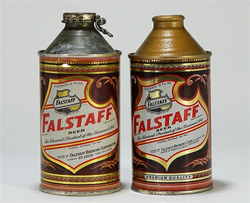 Falstaff Cone Top Beer Cans 161-25/28