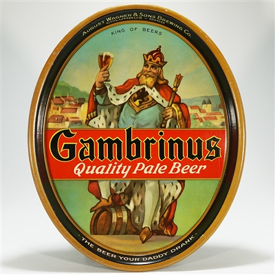 Gambrinus Quality Pale Beer Tray
