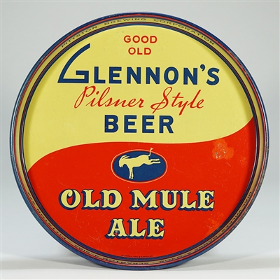 Glennons Old Mule Ale Beer Tray