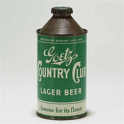 Goetz Country Club Lager Cone 165-18