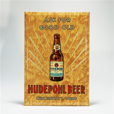 Hudepohl Beer Bottle TOC Sign