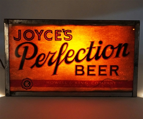 Joyces Perfection Beer Illuminated Sign