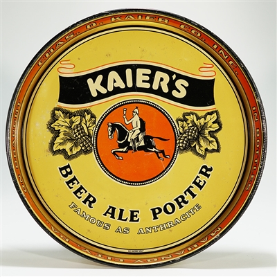 Kaiers Beer Ale Porter Tin Advertising Tray