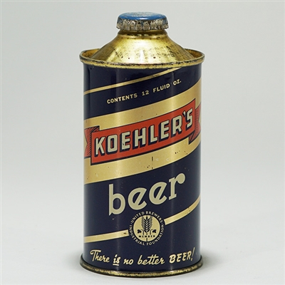 Koehlers Beer LP Cone Top 171-24