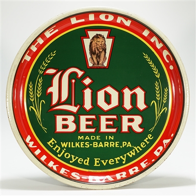 Lion Beer Wilkes-Barre Advertising Tray