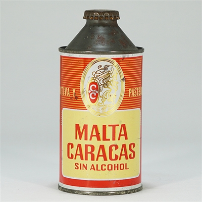 Malta Caracas Cone Top Beer Can