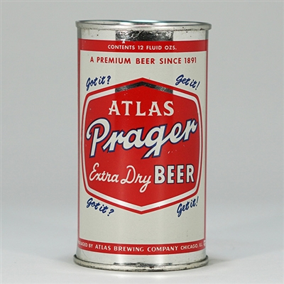 Atlas Prager Extra Dry Beer Can 32-25