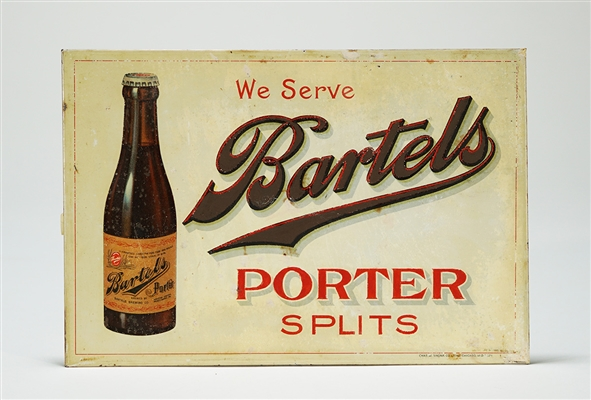 Bartels Porter Splits TOC Bottle Sign