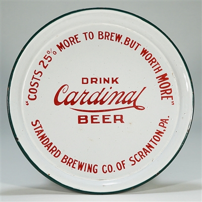 Cardinal Porcelain Beer Tray Standard Brewing
