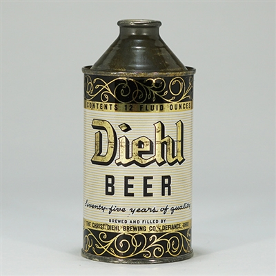 Diehl Beer 75 Years Cone Top Can 159-15