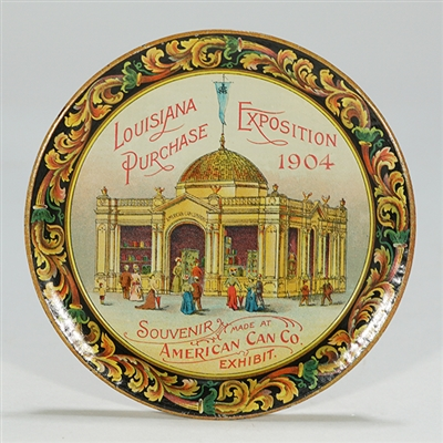 American Can Louisiana Purchase Exposition 1904 Tip Tray