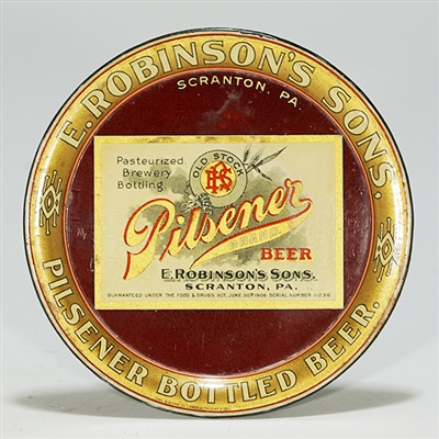 E. Robinsons Sons Pilsener Beer Tip Tray