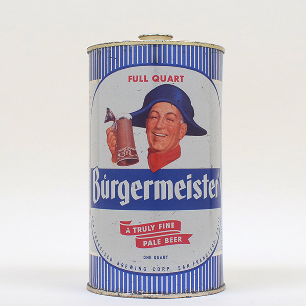 Lot Detail Burgermeister Beer Quart Cone Top 205 2