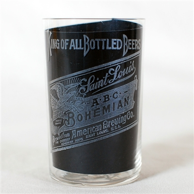 A.B.C. Bohemian American Brewing Etched Glass