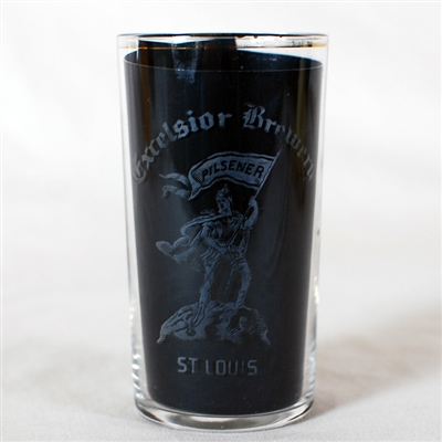 Excelsior Brewery Pilsener Etched Glass