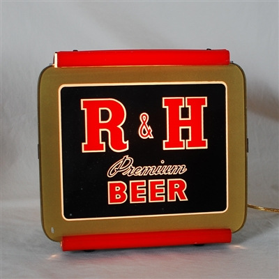 R&H Premium Beer Back Bar Lighted Sign
