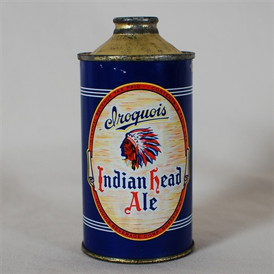 Iroquois Indian Head Ale Cone Top 170-6