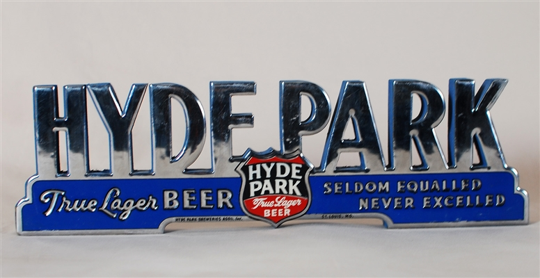 Hyde Park True Lager Fayle Shelf Sign