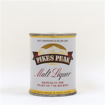 Pikes Peak Malt Liquor 8 oz Flat Top 242-6