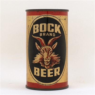 Bock Brand Beer Flat Top Can