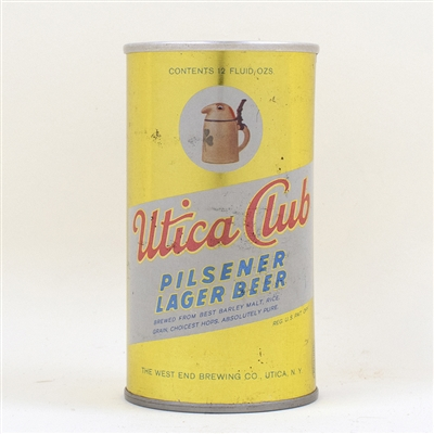Utica Club Beer Zip Top Can