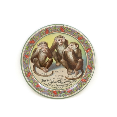 American Hear Speak See No Evil Tip Tray