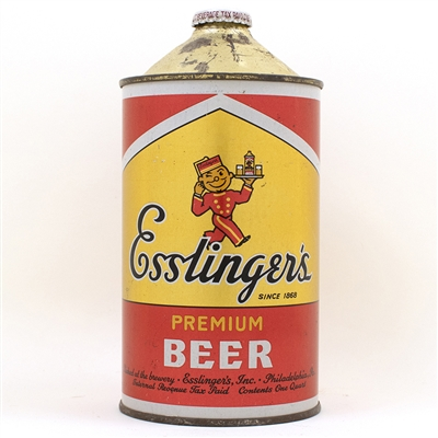 Esslingers Beer Quart Cone Top Can